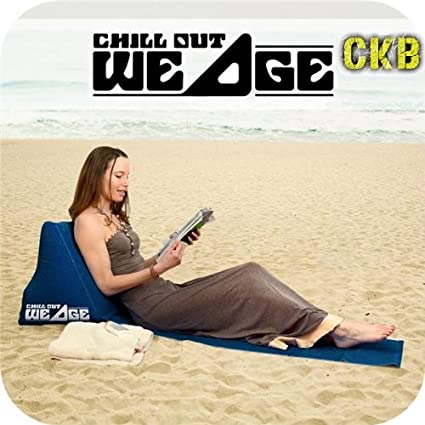CKB Ltd/® Chill Out Portable Travel Inflatable Lounger with Wedge Shape del asiento amortiguador trasero Soporte Pillow silla de Lumbar Navy Blue Perfecto para Camping y Festivales