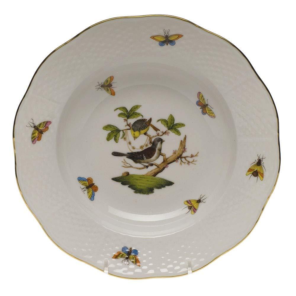 ヘレンドのRothschild鳥リムスーププレートモチーフ# 1 B005MKUPKS