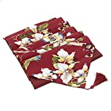 Xcellent Global Dining Table Runner and Placemats Set for Home Dinner, Party, Thanksgiving, Christmas, Wedding and Festival Decoration, Red HG161