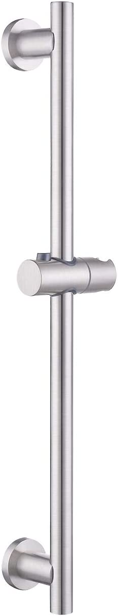 KES Shower Riser Rail Stainless Steel Slide Bars with Handheld Shower Bracket Height and Angle Adjustable, Brushed, F204-2