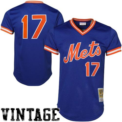 Mitchell & Ness Keith Hernandez Blue New York Mets Authentic Mesh Batting Practice Jersey 3X-Large (56)