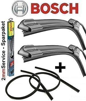BOSCH Aerotwin A392S 3397007392 Limpiaparabrisas 700 / 575 Set + 2x Repuesto de Gomas para Bosch Aero Serie 2mm Service: Amazon.es: Coche y moto