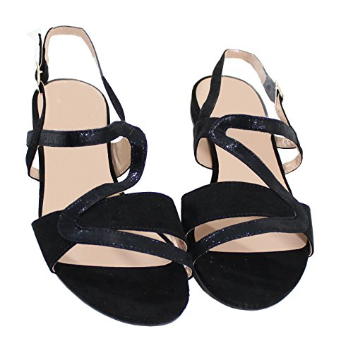 Negro Mujer para Sandalias Shoes by yqIf1ccw