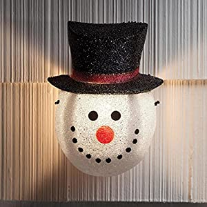 Snowman Holiday Porch Light Cover