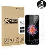 [2-Pack]IPhone SE HD Screen Protector, Hapurs Tempered Glass Screen Protector for Apple iPhone SE iPhone 5S 5C 5 - Maximum Clarity Touchscreen Accuracy and Industry-High 9H Hardness
