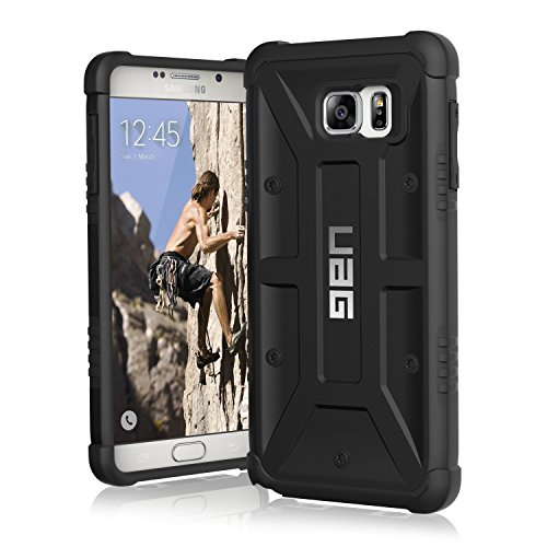 Cases 5 Lot Black Case - UAG Samsung Galaxy Note 5 Feather-Light Composite [BLACK] Military Drop Tested Phone Case
