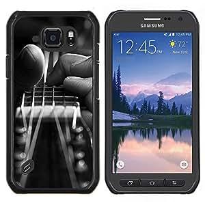 Caucho caso de Shell duro de la cubierta de accesorios de protección BY RAYDREAMMM - Samsung Galaxy S6Active Active G890A - Guitarra Mano