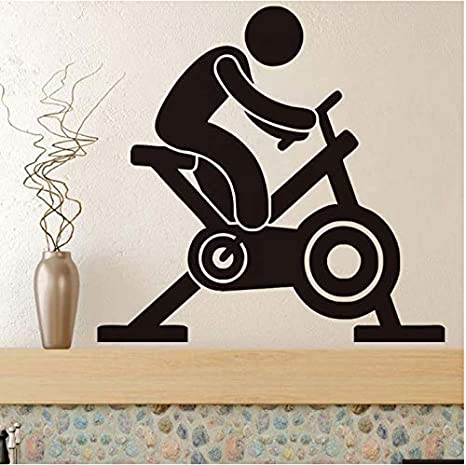 Calcomanías De Pared Para Bicicleta De Spinning Calcomanías De ...