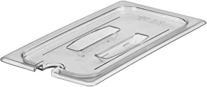 Cambro 1/3 GN Polycarbonate Hotel Pan Notched Lid with Handle, 6PK Clear 30CWCHN-135