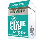 Menstrual Cup Travel Wipes - The Recommended Wipes for Your Period Cups - 100% Alcohol Free - Biodegradable - Flushable
