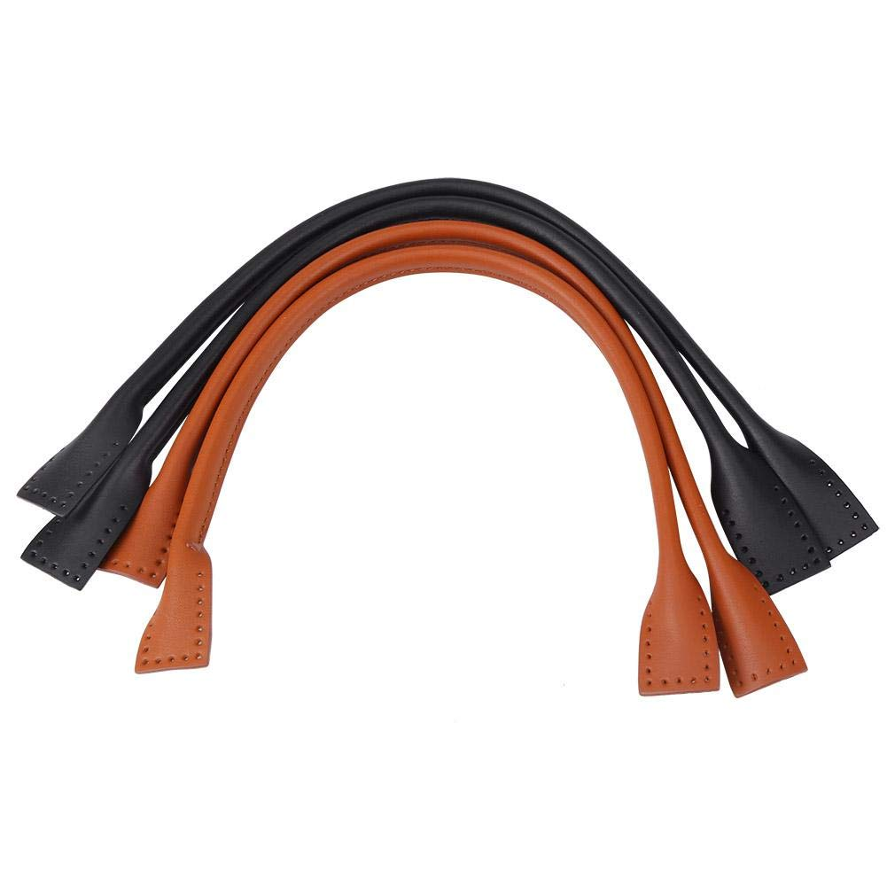 Durable Genuine Leather Handbag Straps Handle for DIY Hand Accessories Thread Purse Making Accessories Brown Bag Straps