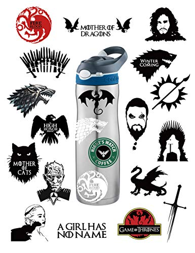 Best Deals! S-001 21pcs Game of Thrones Stickers Winter is Coming Fire and Blood MacBook Decal Mac A...