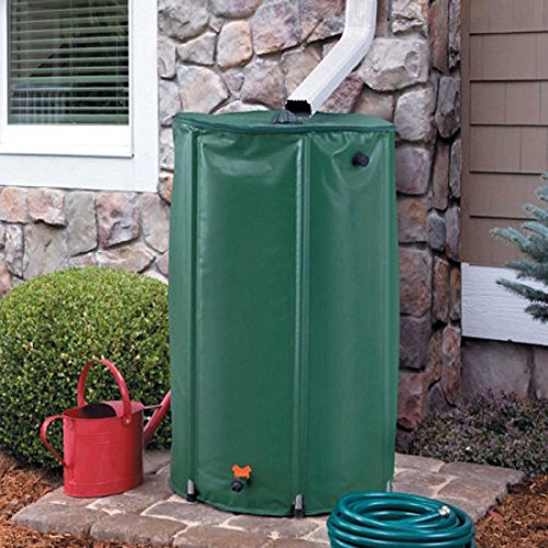 Collapsible Rain Barrel Water Storage - 50 Gallon (Wooden Barrel Rain)