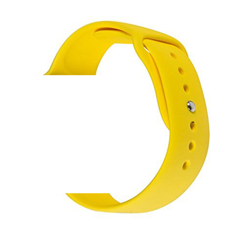WESHOT Apple Watch Band, Silicone Soft Replacement Watch Band Strap For Apple Watch Sport Edition 38MM Yellow S/M by WESHOT (Image #1)