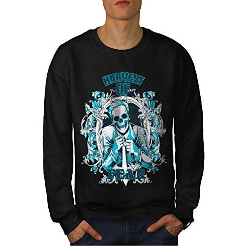 Harvest Of Fear Boss Skull Suit Men NEW S Sweatshirt | Wellcoda (Mob Boss Tie)