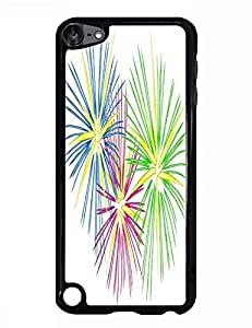 Beautiful Rainbow Fireworks Painting Photo Print Plastic Hard Case for Ipod Touch 5th