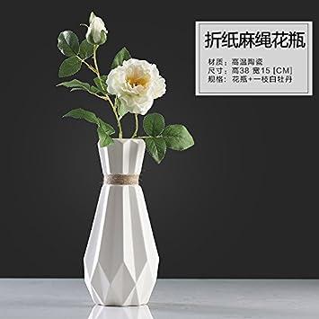 KIKIXI Blume Blume Vase Dekoration Wohnzimmer TV-Schrank Keramische ...
