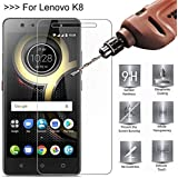 Rexez Pro Hd+ Premium Crystal Clear Tempered Glass Screen Protector for Lenovo K8 Note (Black)