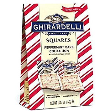 Dark Chocolate Mint Squares (Ghirardelli Peppermint Bark Chocolate Collection (16.07 ounce))