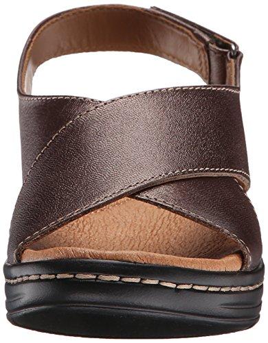 Clarks Hayla cielo vestido de la sandalia Pewter