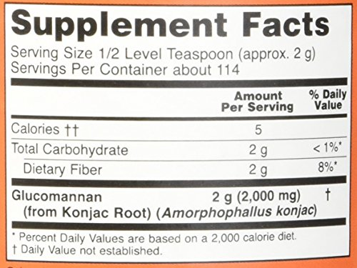 NOW Glucomannan Pure Powder, 8 Ounce by NOW Foods (Image #1)