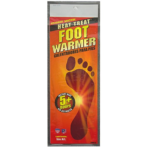Heat Treat Foot Warmer - Grabber Heat Treat Foot Warmer Insoles 3-Pack - Small/Medium