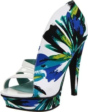Michael Antonio Women's Taft Platform Sandal,Blue,6.5 M US