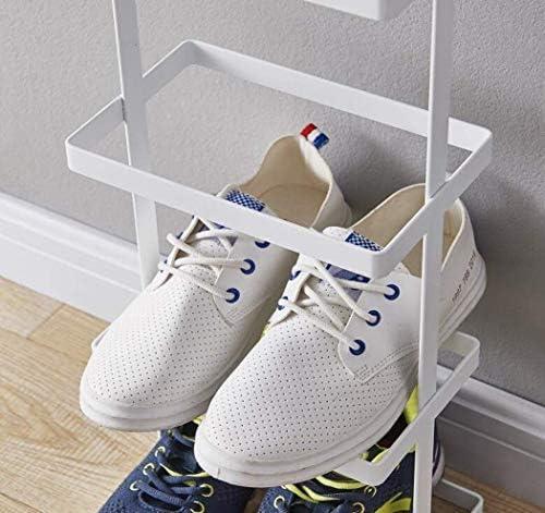 YZjk Schuhregal Mehrschichtige Einfache Schuhe Regal Eisen Rostschutz Schuhregal Schmale Tür Schuhregal, Für Eingangsbereich Flur Wohnzimmer (Farbe: Schwarz)