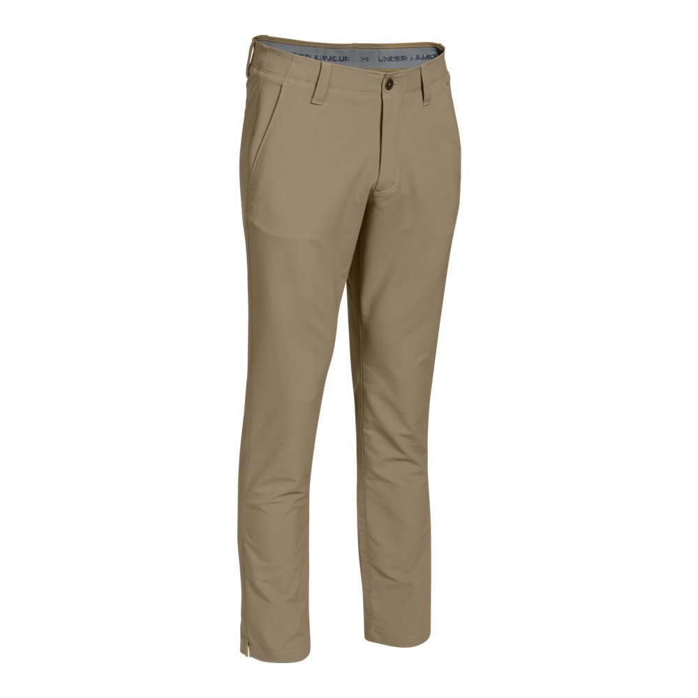 Under Armour Men's Match Play Golf Tapered Pants, Canvas /Canvas, 38/36