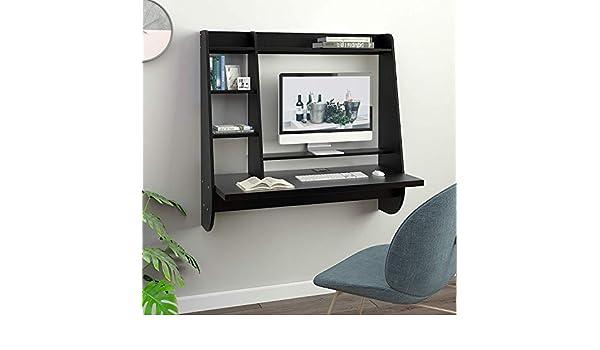 Escritorio flotante de pared para ordenador, para casa, oficina ...