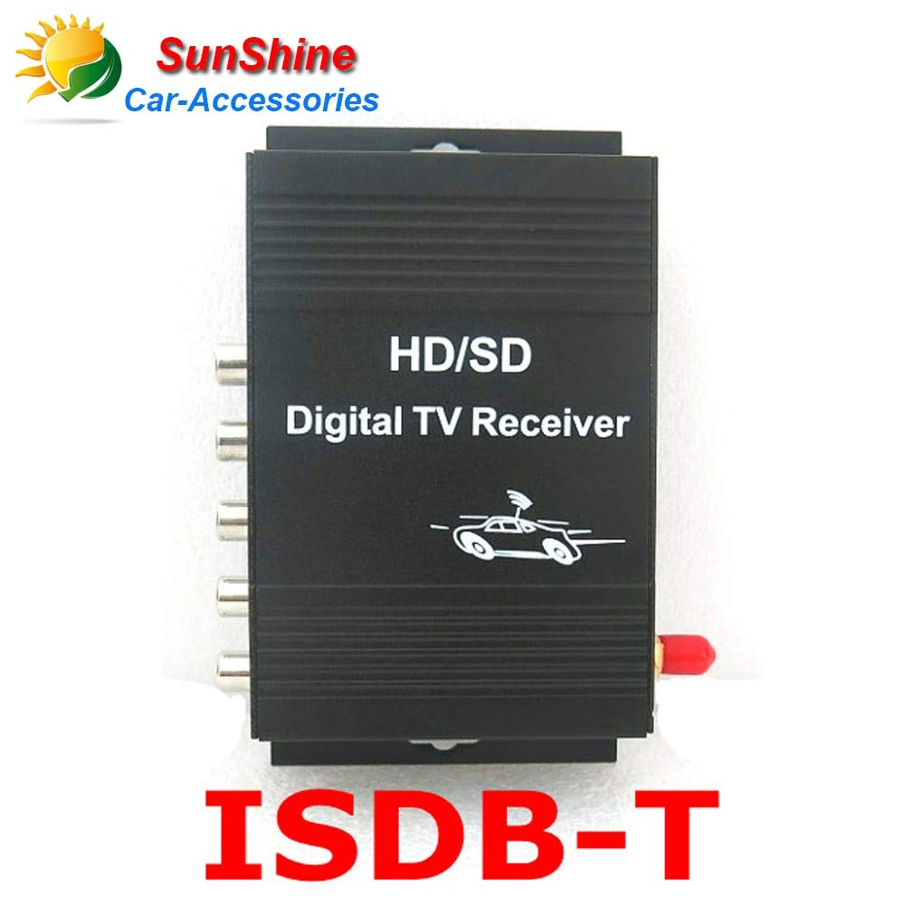 Daphot-Store - Brazil/South America Car ISDB-T Brazil One seg Digital TV Tuner Receiver ISDB-T DIGITAL TV TUNER 4 Video Out For car dvd player