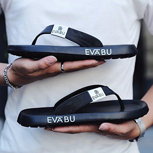 AIHUWAI Sandalen Männer Sandalen Herren Flip-Flops Herren Sandalen Herren Sandalen Herren Sandalen Herren Sandalen & Hausschuhe Herren Sommer Slip A schwarz