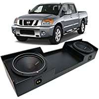 04-15 Nissan Titan King or Crew Truck Rockford Punch P1S410 Dual 10 Rhino Coated Sub Box - Final 2 Ohm