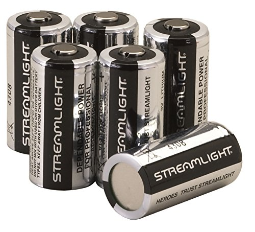 Streamlight 85180 CR123A Lithium Batteries, (Rechargeable Lithium Replacement Battery)