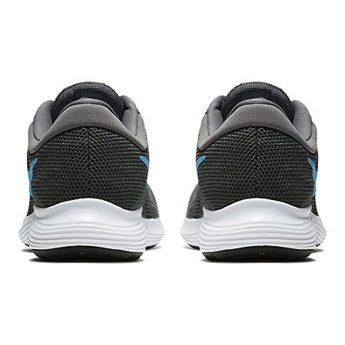 Nike Hommes Révolution 4 Chaussure De Course Anthracite / Lt Bleu Fury Dk Gry