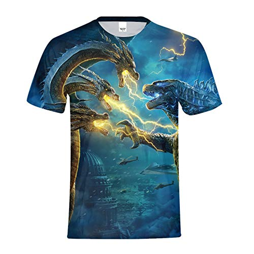 Godzilla: King of The Monsters T Shirt 2019 Cosplay for Men Boys Small -