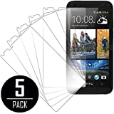 HTC Desire 610 Screen Protector Cover, MPERO Collection 5 Pack of Clear Screen Protectors for HTC Desire 610