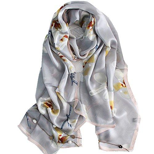 Silk Scarf Shawl New (Novels-wear new 100% mulberry Silk Scarf Wrap Shawl super long (beige))