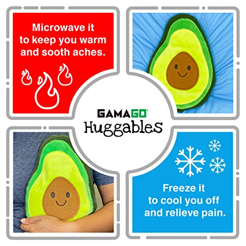 GAMAGO Avocado Heating Pad Huggable, Microwavable Pillow for Cramps, Aches & Anxiety Relief, Adorably Cute Heatable Pack…
