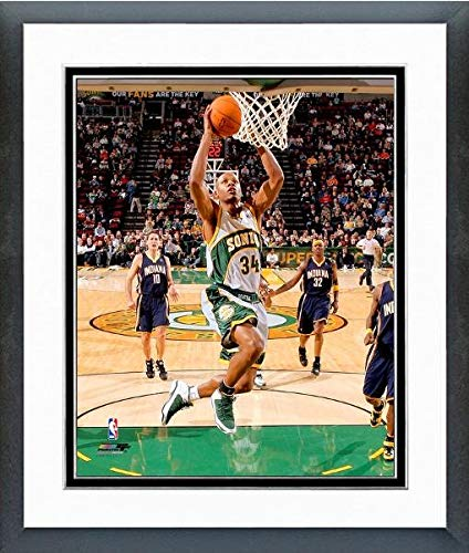 Ray Allen Matted Photo - Ray Allen Seattle Supersonics NBA Action Photo (Size: 12.5