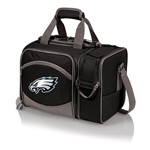 NFL Philadelphia Eagles Malibu Insulated Shoulder Pack with Deluxe Picnic Service for Two