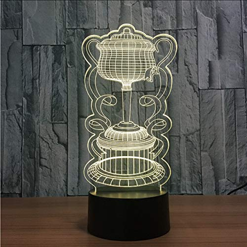 Lifme 3D Novelty Colorful Visual Trophy Table Lamp Bedside Lamps USB Nightlight Light Fixture Led Sleeping Lighting Home Decor Gift