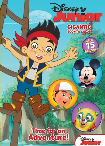 - Disney Junior Jake & the Never Land Pirates: Time for an Adventure!: Gigantic Book to Color with Stickers