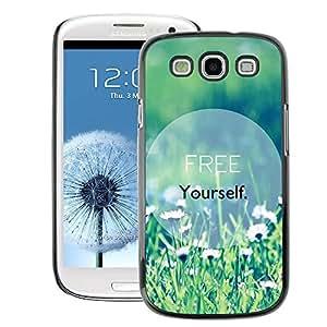 A-type Arte & diseño plástico duro Fundas Cover Cubre Hard Case Cover para Samsung Galaxy S3 (Free Yourself Text Motivational Summer)