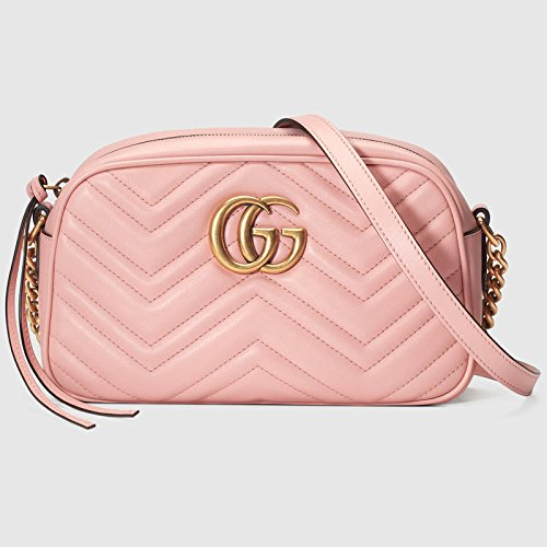 cef626943cc15 Gucci GG Marmont Small Size Quilted Shoulder Bag (pink)  Amazon.ca ...