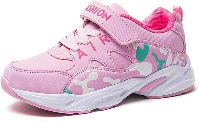 HSNA Baskets Mode Enfants Fille Chaussures de Sport Respirant Légères Chaussures l'école de Fille(28 39 EU)