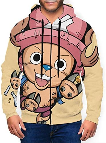 Qmad Men`s Chopper One Piece Lover Handsome Zipper Cardigan Long SleeveHat for Autumn / Qmad Men`s Chopper One Piece Lover Handsome Zipper Cardigan Long SleeveHat for Autumn