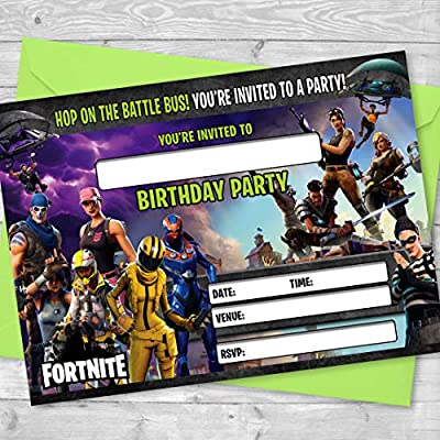 Invitaciones de Fortnite - Invitaciones de fiesta de ...