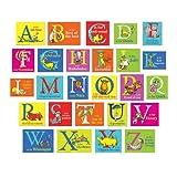 Eureka Dr. Seuss ABC Alphabet Bulletin Board Classroom Decoration for Teachers, 26pcs