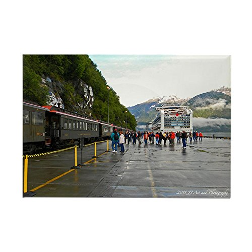 CafePress White Pass Railway and Ship Rectangle Magnet Rectangle Magnet, 2